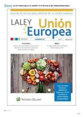 Portada LA LEY Union Europea nº 47, abril