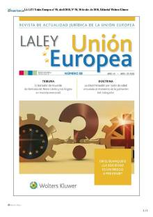 LA LEY Union Europea nº 58, abril 2018 portada (2)
