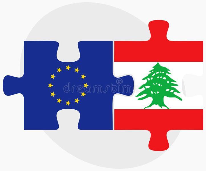 unión-europea-y-banderas-de-líbano-en-rompecabezas-55190622