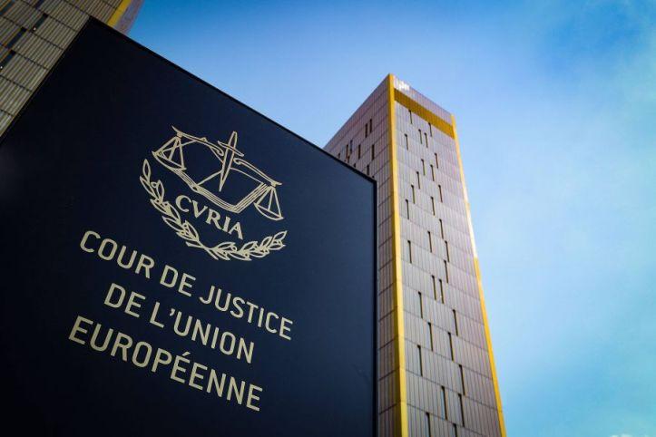 20 06 2019 xmkx Politik Europaeischer Gerichtshof EuGH v l Eingangsschild Symbolbild Luxembur